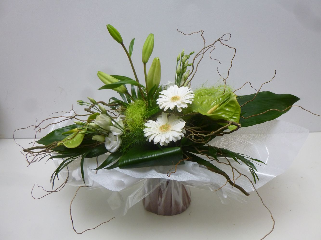 Bouquet allong landerneau vers dirinon et ploudaniel - Centre de table floral ...